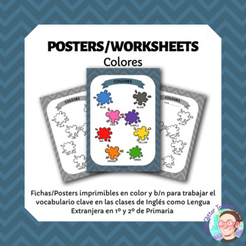 ESL Colours vocabulary posters for years 1 & 2