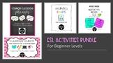 Distance Learning Bundle - ESL Classroom Phrases, Task Car