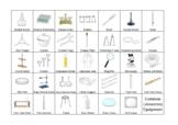 ESL Common Laboratory Equipment vocabulary word mat, Science