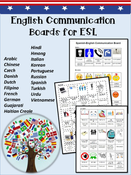 ESL Communication Boards in 20 languages
