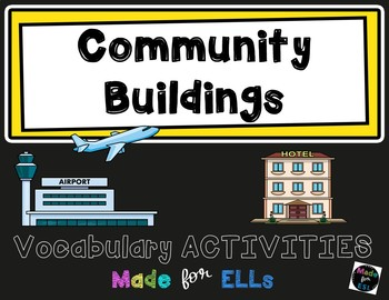 ESL Community Buildings Vocabulary Activities