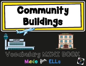 ESL Community Buildings Vocabulary Flip Books