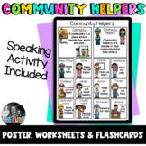 ESL Community Helpers- Poster, Flashcards & Worksheets