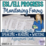 ESL/ELL Progress Monitoring Forms