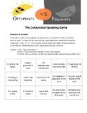 Conjunctions Speaking Game: Optimists vs. Pessimists