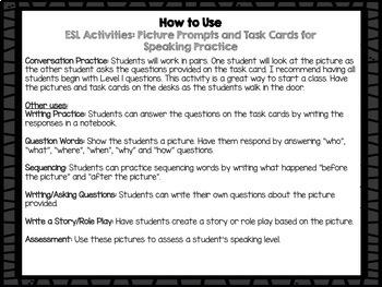 ESL Conversation Activities: Picture Prompts for Speaking Practice (SET 2)