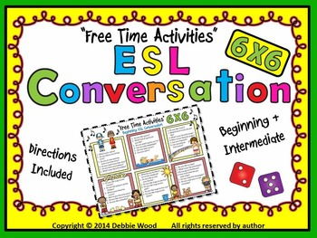 "ESL Conversation Boards:  ""Free Time Activities""  Beg.  & Int."