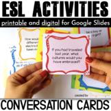 ESL Activities: Conversation Cards for Speaking Practice {