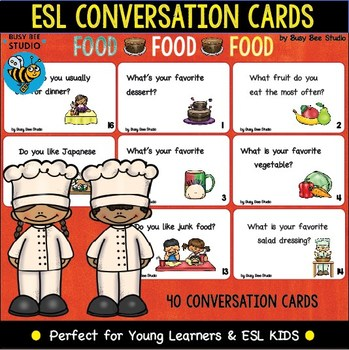 ESL Conversation Cards: FOOD