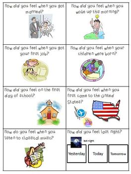 ESL Conversation Cards-Feelings