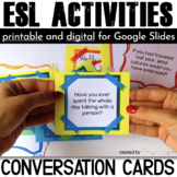 ESL Activities: Conversation Cards for Speaking {Have you ever questions}