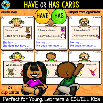 Subject Verb Agreement Have Has By Busy Bee Studio Tpt