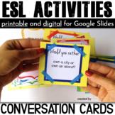 ESL Activities Conversation Cards
