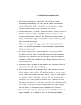 ESL Conversation Practice