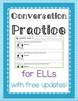 ESL Conversation Practice - NO PREP - Free updates with new topics!