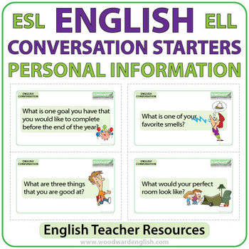 esl conversation starters personal information by woodward education