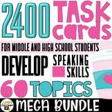 ESL Conversation Starters   Task Cards   MEGA BUNDLE   For Teenagers