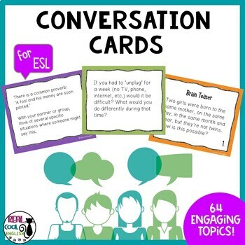 ESL Conversation Cards (US and UK)