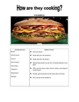 ESL Cooking and Food Handout