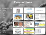 ESL - Coordinating conjunctions & Conjunctions of time [ 8 lessons ]