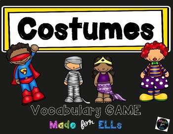 ESL Costumes Vocabulary Board Game