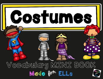 ESL Costumes Vocabulary Flip Books