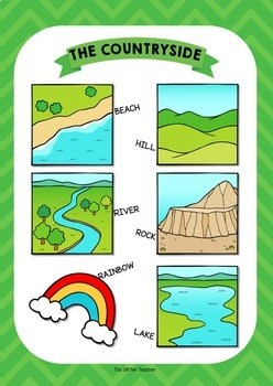 ESL Countryside vocabulary posters for years 1 & 2