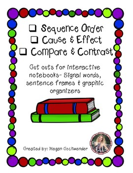 ESL- Cut Outs For Interactive Notebooks (Sequence Order, Cause/Effect...)