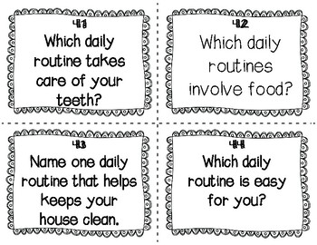ESL Daily Routine Task Cards