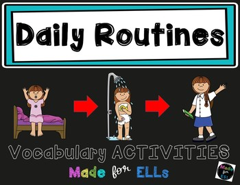 ESL Daily Routine Vocabulary Activities