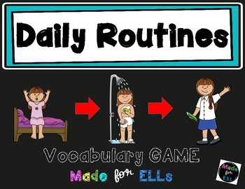 ESL Daily Routines Vocabulary Board Game
