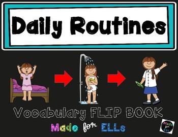 ESL Daily Routines Vocabulary Flip Books
