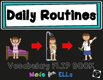 ESL Daily Routines Vocabulary Flip Books