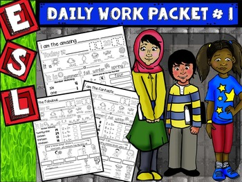 ESL Daily Work Packet # 1