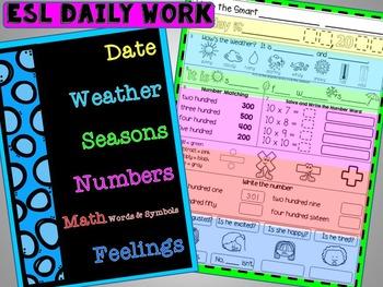 Morning Work: ESL Daily Work Packet # 2 (ELL, ESOL)