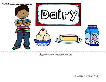 ESL Food Groups:  Dairy Flip Book!
