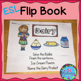 ESL Food Groups:  Dairy Flip Book!  ESL Vocabulary for Beginners