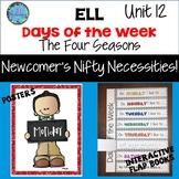 ESL Days of the Week & The Four Seasons -  Unit 12 ELL ESL