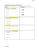ESL: Decimals, Rounding, Comparing, Ordering Place Values