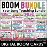 ESL Digital Boom Card Growing Bundle : Grammar, Vocabulary
