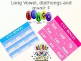 ESL - Dipthong / Long Vowel / Magic E Bingo - Phonics