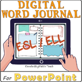 ESL Distance learning EDITABLE digital WORD JOURNAL /vocab