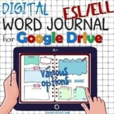 ESL Distance learning Editable WORD JOURNAL /vocabulary bo