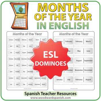 ESL Dominoes - Months of the Year in English