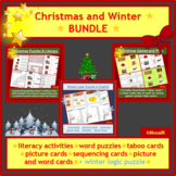 ESL, EAL, EFL, English: Christmas BUNDLE incl. PPP, games, puzzles, literacy
