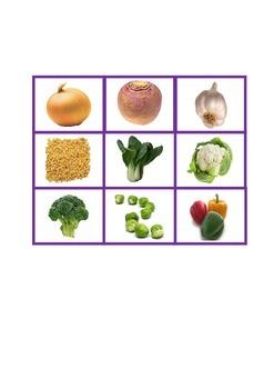 ESL / EAL /  EFL Vegetable Bingo - matching words with pictures