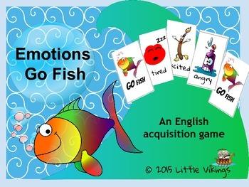 ESL/ EAL/ ELL Emotions Go Fish