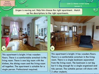 ESL EAL Home, Furniture and prepositions, Unit 3 lesson 3 full lesson beginners