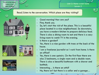 ESL EAL  Home, rooms in the house, adjectives and opinions