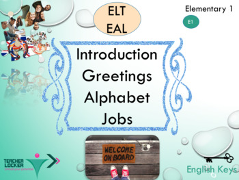 ESL EAL alphabet greetings and jobs interactive activities